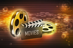 Film Reels and Clapper board Royalty Free Stock Photo