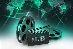 Film Reels and Clapper board Stock Photos