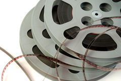 Film reels closeup Stock Image