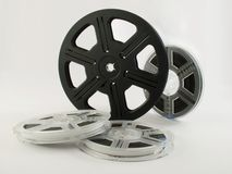 Film reels with films 4 Royalty Free Stock Photography