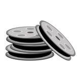 Film reels icon. Flat design film reels icon  illustration Stock Photography