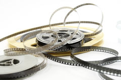 Film reels isolated on white Royalty Free Stock Photo