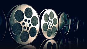 Film reels. Stock Photos