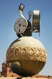 Film reels. Statue in Ouazazarte Morocco commemorating the history of film making in the area Stock Images