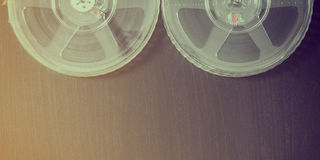Film Reels vintage background with copy space Stock Image