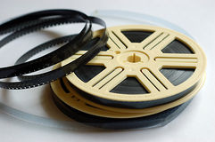 Film reels on white background Stock Photos