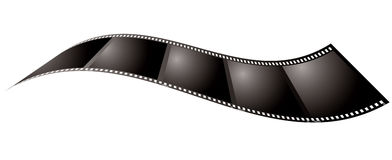 Film relax. Illustrated piece of film that could be used as a place holder or background Royalty Free Stock Image