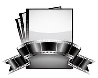 Film ribbon. Vector: film, photo and ribbon Stock Photos