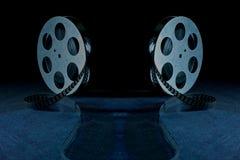 Film rolka na czarnym tle Zdjęcie Stock