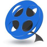 Film roll. Symbol a film roll on a white background Royalty Free Stock Images