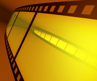 Film Roll. In dark ambience with light on background vector illustration