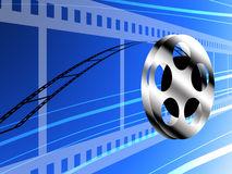 Film roll. Technology concept background Royalty Free Stock Photo