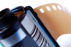 Film roll. Cartridge roll of 35 mm photographic film Stock Photography
