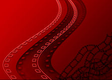 Film roll graphic. Film strip negatives design Royalty Free Stock Image