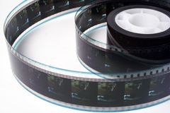 Film roll. A roll of color film Royalty Free Stock Image