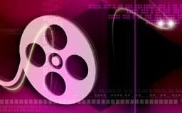 Film roll. Digital illustration of film roll cover Royalty Free Stock Image
