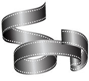 Film Roll. In black and white where you can put your own text over Stock Photos