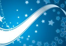 Film roll background. Movie related  illustration background Royalty Free Stock Photo