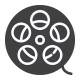 Film roll icon vector Stock Photo