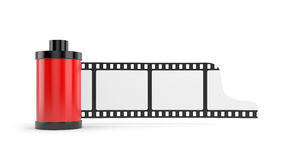 Film roll isolated on white. Conceptual illustration. Isolated on white Royalty Free Stock Image