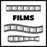 Film roll , 35mm, slide frame set Royalty Free Stock Photo
