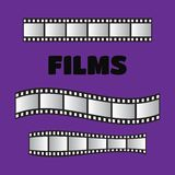 Film roll , film 35mm, slide film frame set. Negative and. Strip, media filmstrip Stock Photo