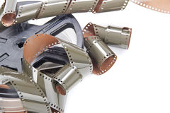 Film roll reel isolated Stock Image