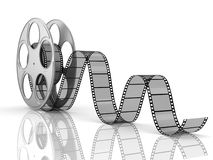 Film roll and strip. Isolated Stock Image
