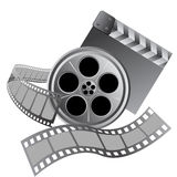 Film roll strip tape set. Design Royalty Free Stock Photography
