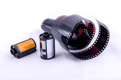 Film. Roll used film,Nobody to used in presentday Stock Photo