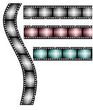 Film Roll. Various color on white background Stock Image