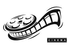 Film roll vector. Film roll logo vector black cinema and movie Stock Image