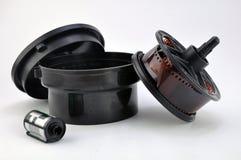 Film-Rolle und Format des Kanister-35mm Lizenzfreies Stockbild