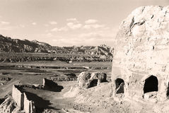 (FILM)The ruin of Guge Kingdom 007. Guge is a long lost kingdom in the history of Tibet. There are remains of stupa and monastry.The ruin of ancient Guge Kingdom Royalty Free Stock Photos