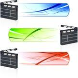 Film-Scharnierventil mit Fahnen Stockfoto