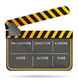 Film-Schindelvektor Lizenzfreie Stockfotografie