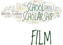 Film Scholarship School Text Background  Word Cloud Concept Stock Photography