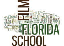 Film School In Florida Text Background  Word Cloud Concept Royalty Free Stock Image