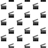Film seamless pattern. Slapstick and clapper. Movie and film, cinema clapper board. Vector illustration Stock Image