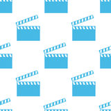 Film seamless pattern. Film white and blue seamless pattern for web design. Vector symbol Stock Photography