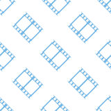 Film seamless pattern. Film white and blue seamless pattern for web design. Vector symbol Royalty Free Stock Photography