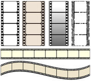 Film set. Illustration of seamless film strips Stock Image