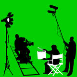 Film set vector. Film set and cameraman vector Royalty Free Stock Image