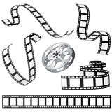 Film set vector. Set of film and roll vector Stock Image