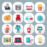 Film Shooting Icons Set Royalty Free Stock Photography