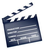 Film Slate. Drawing of film prop in a white background Royalty Free Stock Images