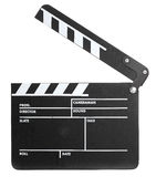 Film Slate. A Film Slate on a white background Royalty Free Stock Images