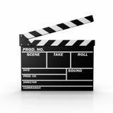 Film Slate. 3D rendered image : Film Slate Stock Photography