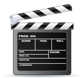 Film Slate. Vector film maker clapper board Royalty Free Stock Photography