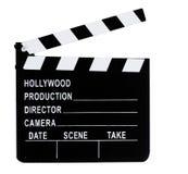 film Slate. Classic Movie Industry film Slate over white background Stock Photo